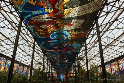 Cosmovitral stained glass
